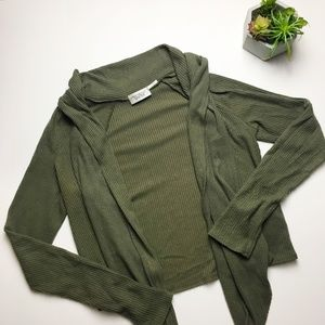 Urban Outfitters olive green cardigan